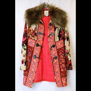 """Elevenses Multi-Colored Cloth Size 2 """"HIppie"""" Coat"""